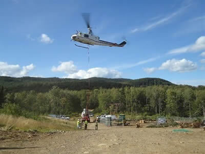 Maine Helicopters in the construction industry.